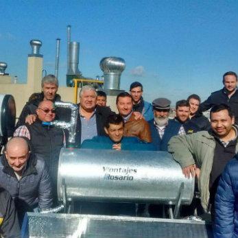 El Compañero Guillermo Moser participó en el cierre del Curso de Energías Renovables
