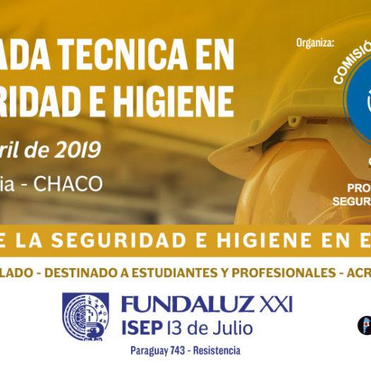 Jornada Técnica de Seguridad e Higiene en Resistencia, Chaco