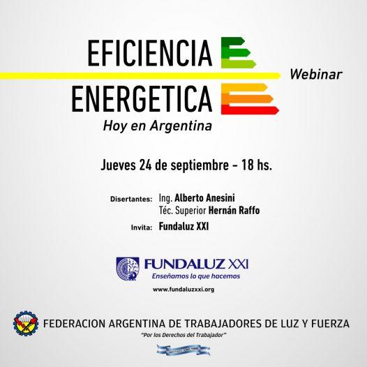 Webinar «Eficiencia Energética hoy en Argentina»